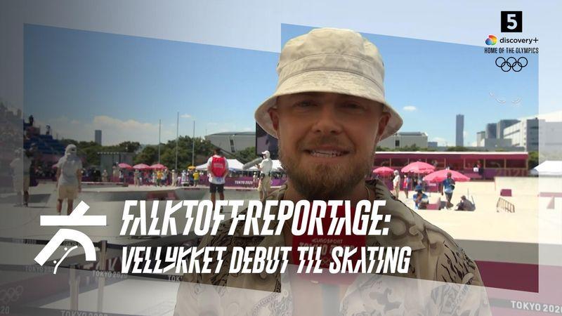 Falktoft-postkort fra Tokyos hede: Vellykket skateboard-debut trods ærgerligt Glifberg-exit
