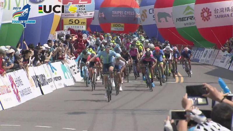 White wins Stage 3 of Tour de Taiwan