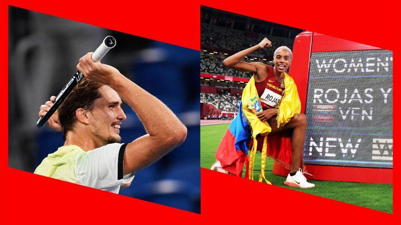 Zverev schreibt Geschichte, Rojas mit Weltrekord - Highlights vom Sonntag