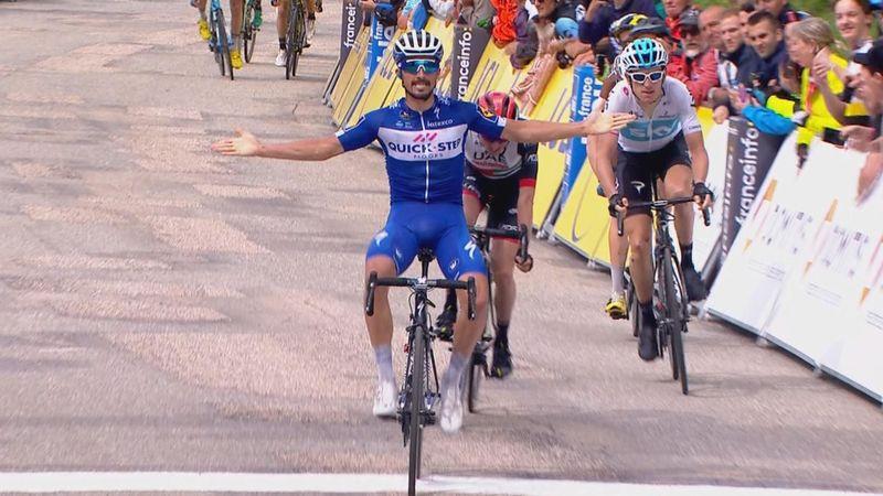 Alaphilippe sprintede sig til sejren på bjergetape i Dauphiné