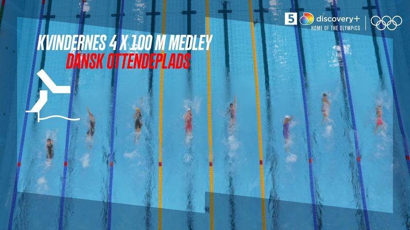 Canada tager skalpen i 4 x 100 m medley, mens Danmark ender sidst