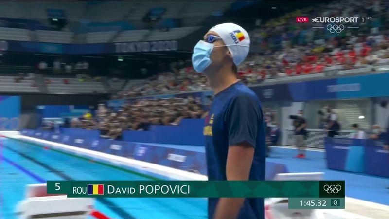 David Popovici este în finala de la 200 metri liber, după o nouă cursă de vis
