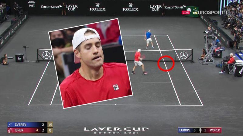 'Why did Isner stop?!' - Disbelief as Zverev wins bizarre point