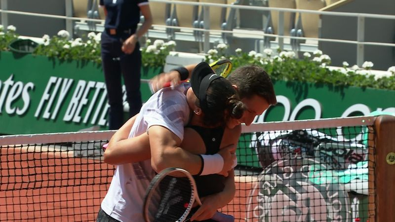 Watch the moment Salisbury and Krawczyk clinch mixed doubles title at Roland Garros