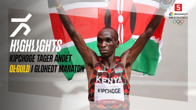 Highlights: Kong Kipchoge genvinder tronen i glohedt maraton – Abdi får flot placering