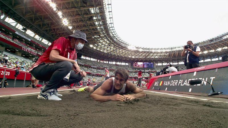 Atletismo | La dolorosa caída de Van der Plaetsen: resbala y aterriza así