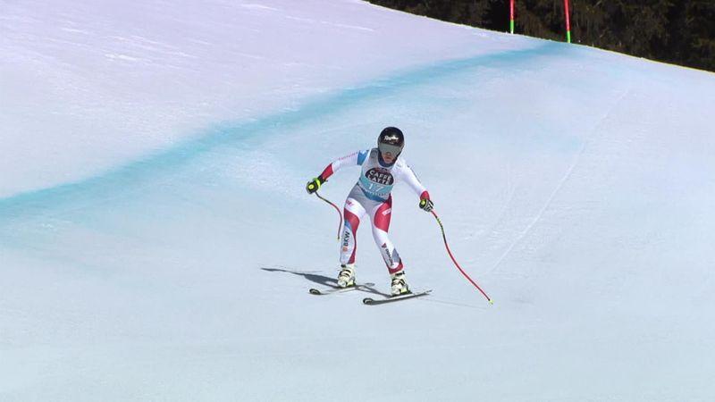 Crans-Montana| Lara Gut-Behrami snelste op de afdaling in Zwitserland