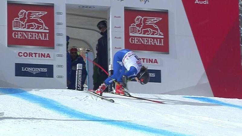 Goggia crashes in Cortina Super G