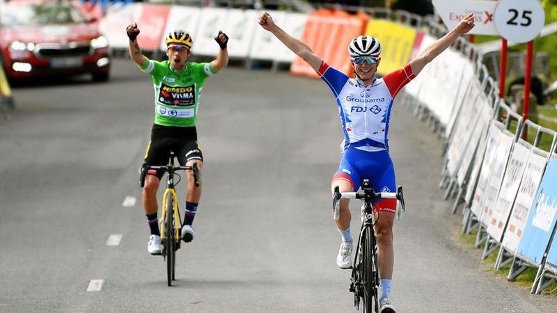 Y a de la joie : Gaudu et Roglic bras levés à l'arrivée à Arrate