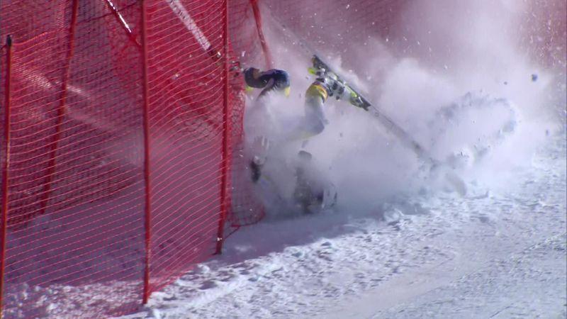 Жуткое падение норвежской горнолыжницы – она госпитализирована