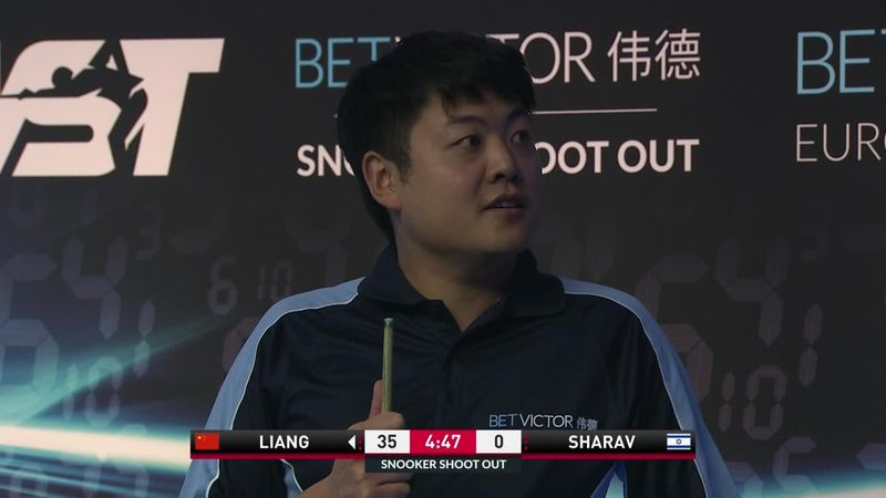 Liang Wenbo gets called for shot clock violation but then VAR interferes!