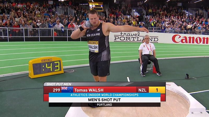 Walsh makes history for NZ by claiming men's shot put