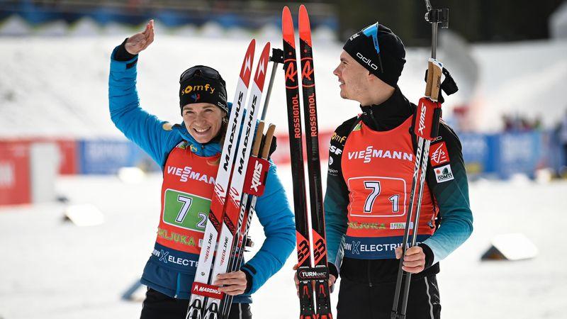 Highlights: France take single mixed relay
