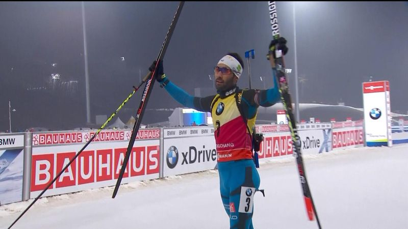 Fourcade wins pursuit crown in Pyeongchang