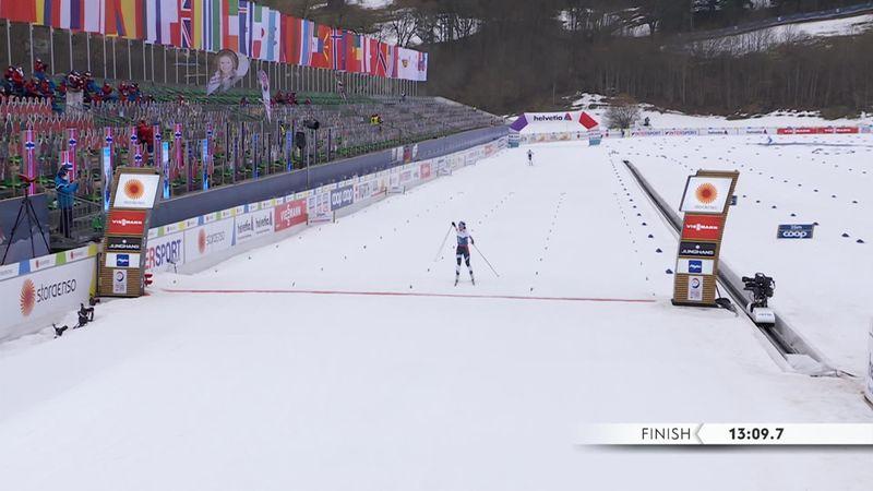 Une chute dans le final n'a pas empêché le triplé de la Norvège