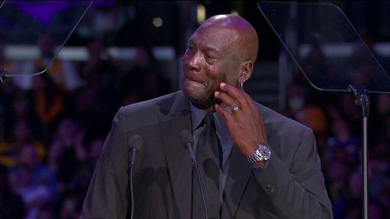 """""""Muss mich wieder als Heul-Meme sehen"""": Jordan sorgt für Lacher bei Kobe-Gedenkfeier"""