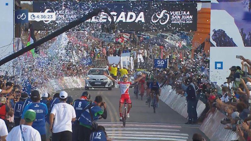 Ronde van San Juan| Etappewinst voor Miguel Florez - Evenepoel overleeft waaiers