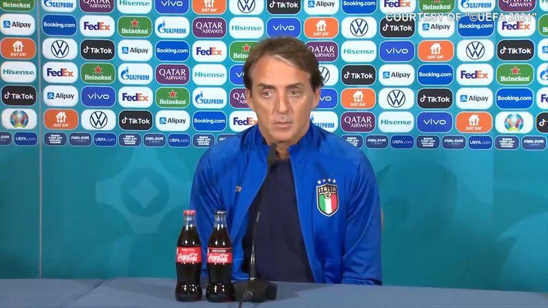 """Mancini: """"Italia farà turnover? Ho una squadra di titolari"""""""