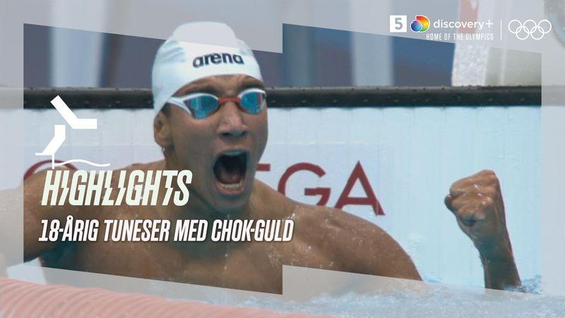 Vilde scener! 18-årig tuneser vinder chok-guld på 400m fri