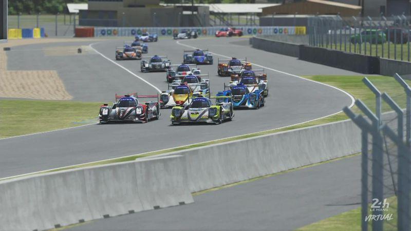 Un inicio para la historia: Las primeras vueltas de las 24 Horas de Le Mans Virtuales