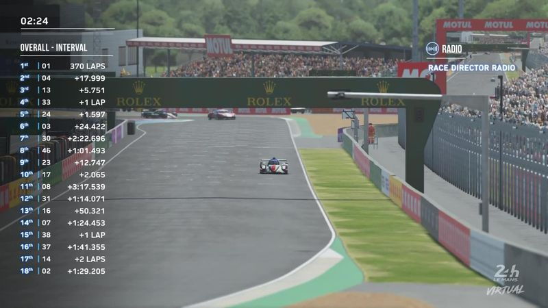 The moment Rebellion Williams Esport won Virtual 24 le Mans