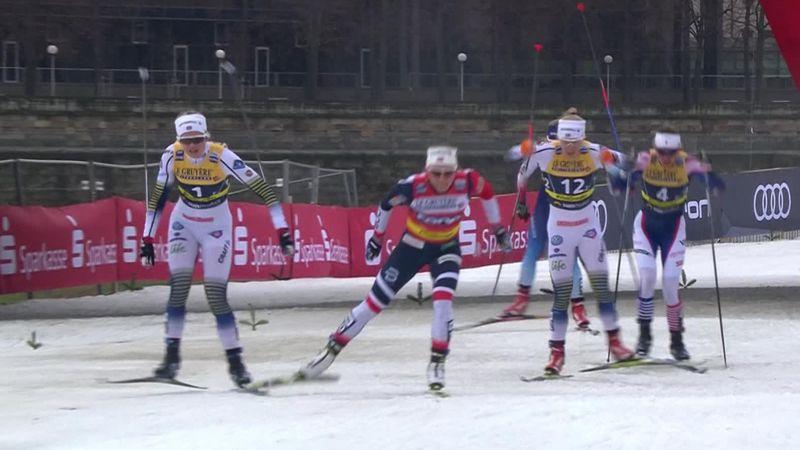Sverige tok rotta på Norge på sprintstafetten i Dresden