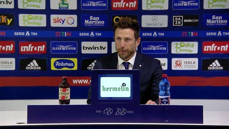 """Di Francesco: """"Arbitro non all'altezza, serve rispetto"""""""