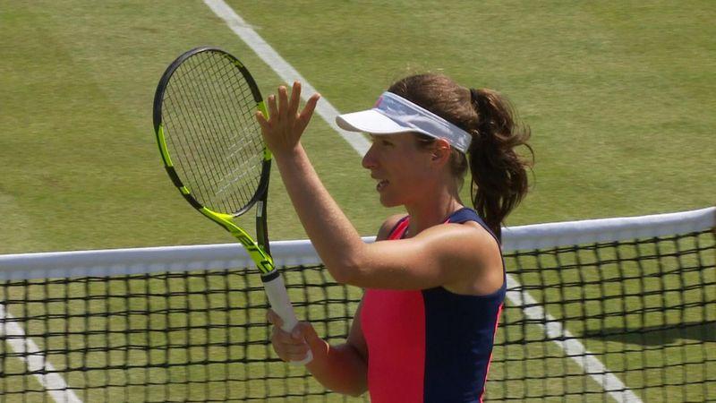 WTA Nottingham: Johanna Konta-Yanina Wickmayer, gli highlights
