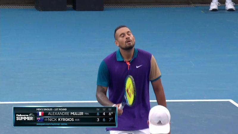 ATP Melbourne: Vídeo resumen de la victoria de Kyrgios sobre Muller