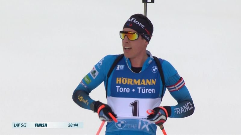 Highlights: Quentin Fillon Maillet doubles up with pursuit victory