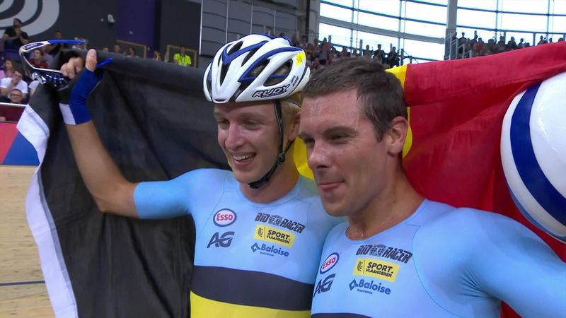 Belgium win men's Madison as GB take bronze