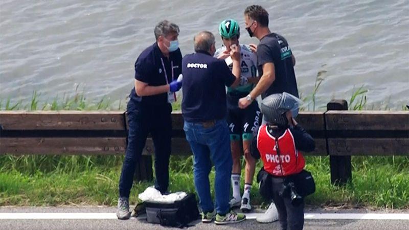 Unschöne Bilder nach Sturz: So bitter endete der Giro für Buchmann