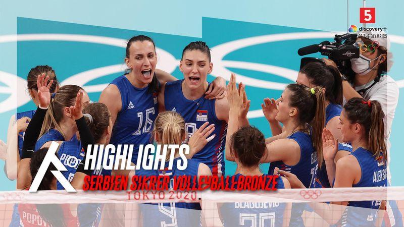 Highlights: Olympisk topscorer smashede serberne til bronze mod chanceløse Korea