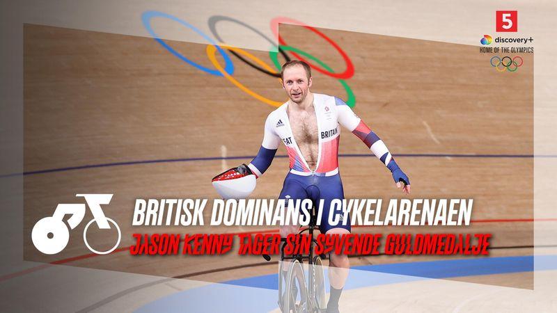 Stikker af med tre omgange tilbage: Jason Kenny udraderer feltet og tager syvende guldmedalje