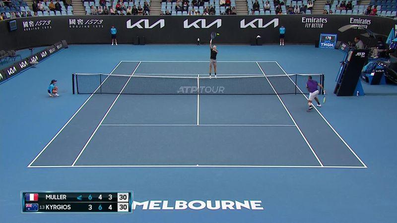 ATP Melbourne: Puntazo entre Kyrgios y Muller