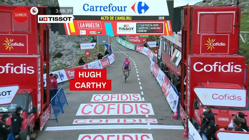 Главные моменты 12-го этапа, который принес победу Карти и отнял красную майку у Роглича