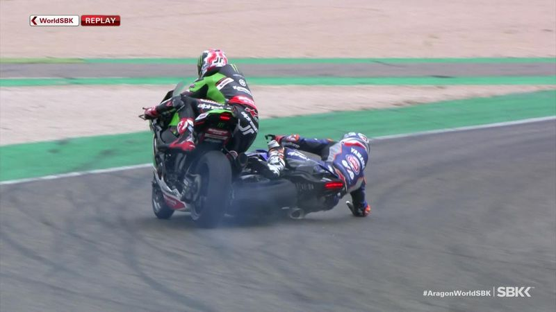 Rea in collision with Gerloff in Race 2 of Superbike world championship