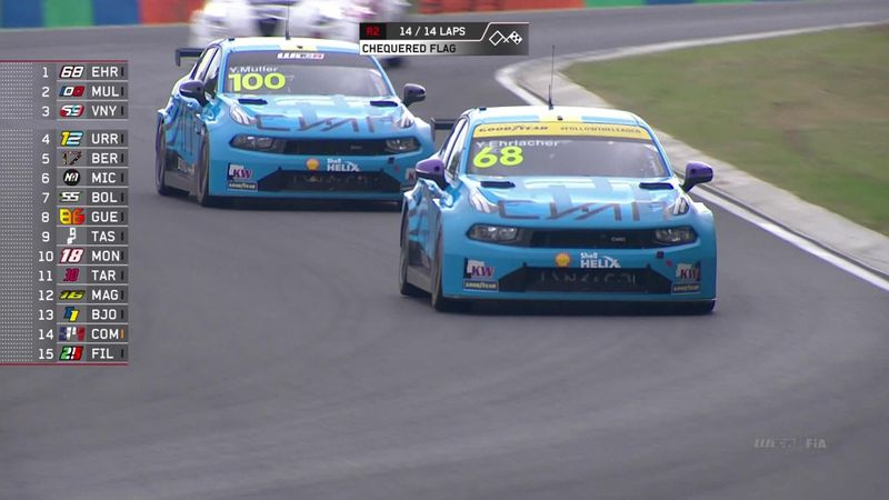 WTCR, Hungaroring: gara 2 va a Erlacher