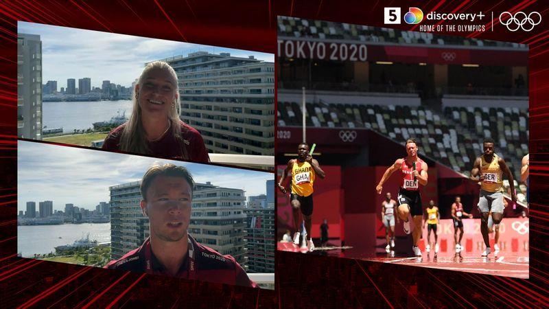 Dobbelt dansk rekord: Interviews med de to danske stafethold
