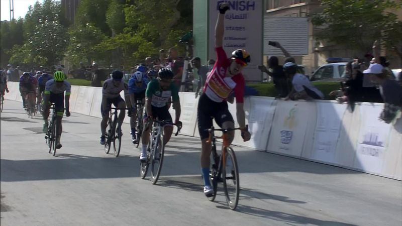 Watch barnstorming Bauhaus take Saudi Tour title in sprint finish