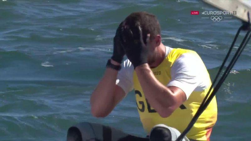 'He's done it!' - GB's Scott wins second successive sailing gold