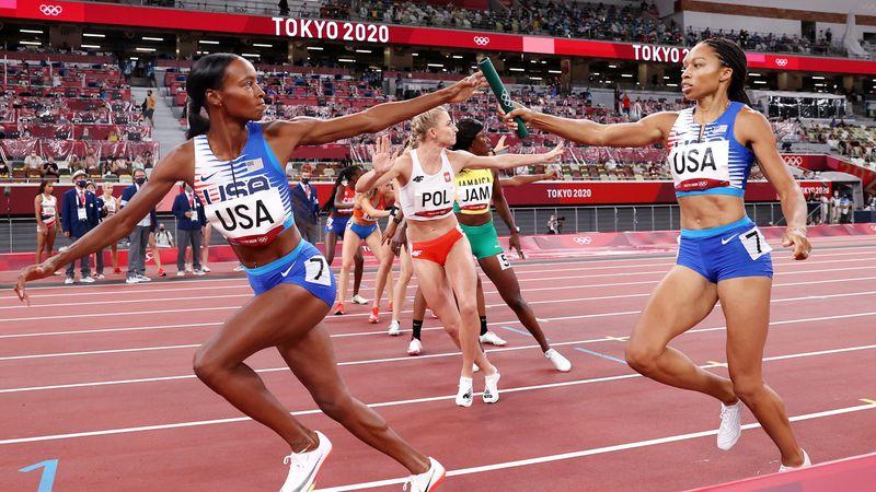 USA dominieren 4x400-m-Staffel - historischer Lauf für Felix
