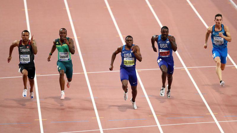 Temps canon pour grosse domination : revivez le 100m victorieux de Coleman