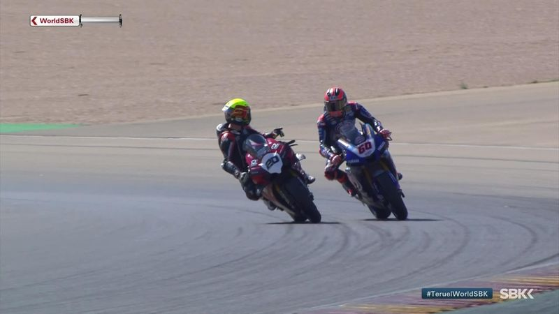 Barrier and Van der Mark argue for half a lap in Superpole