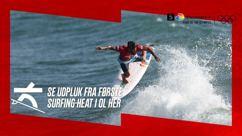 Første OL-akrobatik på bølgen blå: Se brasilianske Ferreira brillere i herrernes første surfing-heat