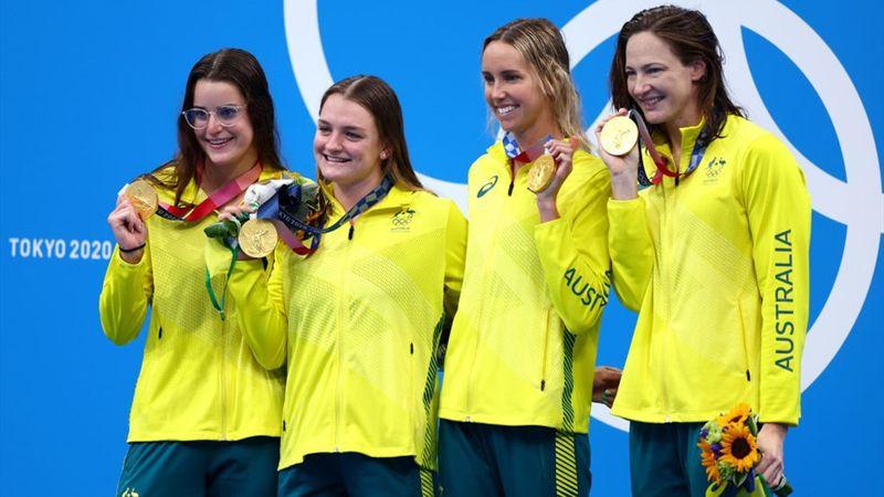 Finish women's 4x100m medley - Tokyo 2020 - Olimpiyatların Önemli Anları