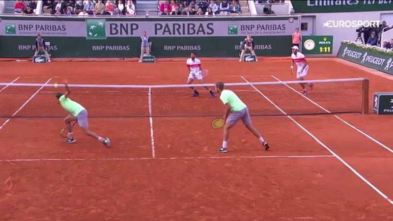 Tal día como hoty, 9 de junio: El punto más espectacular en un partido de dobles en Roland-Garros
