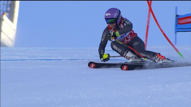 Tessa Worley takes victory in Sestriere Giant Slalom