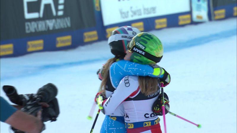 Moment incredibil: pentru a doua oară în istorie, doi sportivi iau aurul la Mondialele de schi alpin