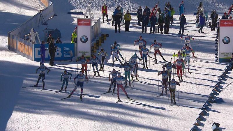 La staffetta maschile del biathlon parla francese